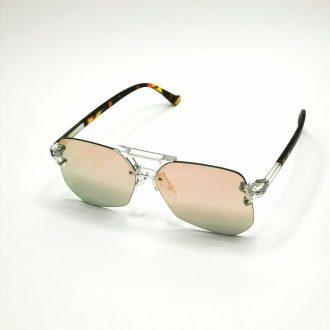 Rózsaszín tükrös női napszemüveg
