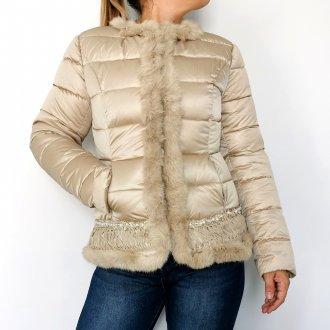 női arany téli kabát
