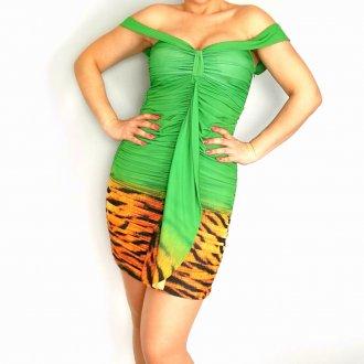 Zöld női miniruha