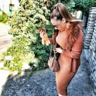 női barna bőrtáska