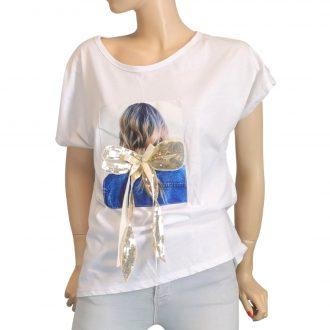 Aranymasnis fehér póló