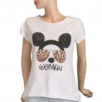 Mickey egér fejes fehér női póló