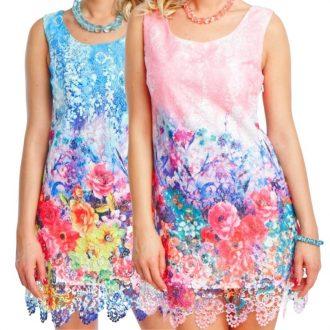 Virágos női ruha